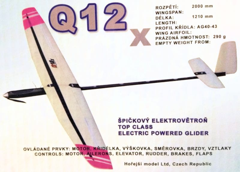 Especificaciones básicas del motovelero Horejsi Q12X