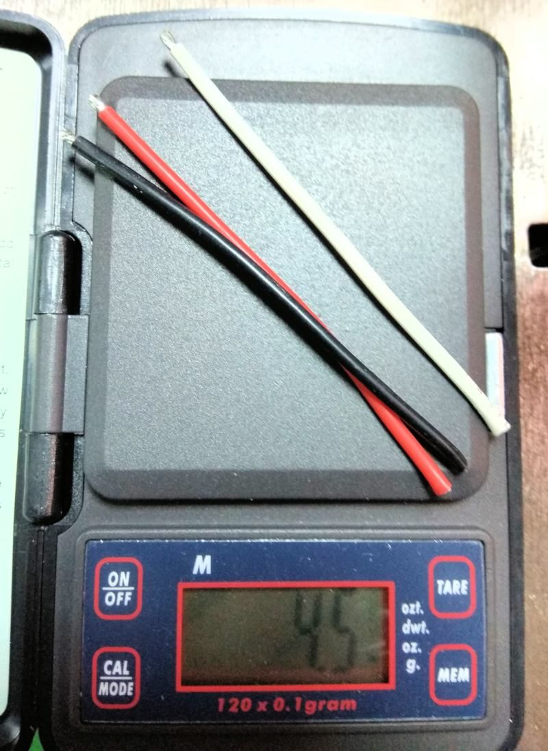 021 Peso de los cables del variador
