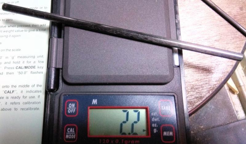 058 Peso de la bayoneta original sin la varilla de acero