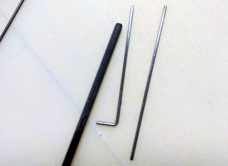 073 Varilla de carbono de 2mm