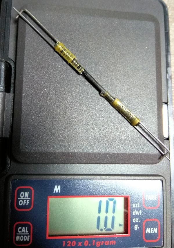077 Peso de la transmision de mando del aleron