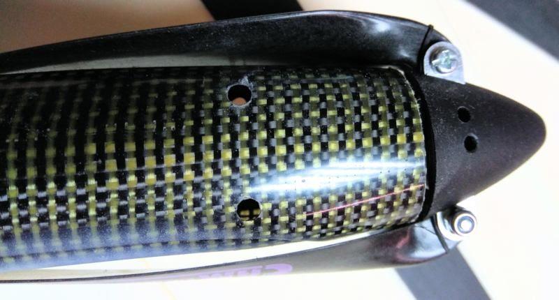134 Fuselaje taladrado para varillas carbono 4mm